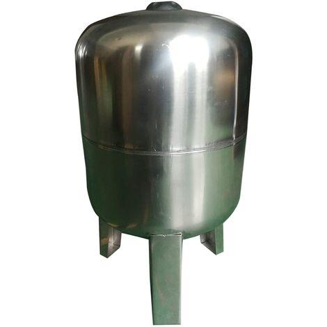 Vaso de expansión acero inoxidable 50L, depósito de presión 8bar, calderín grupo de presión doméstico.