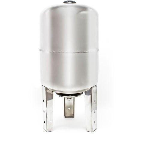 Vaso expansión acero inoxidable 50L, depósito de presión, calderín para grupo de presión doméstico