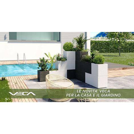 Vaso Fioriera Matheria da 100cm di design moderno colore bianco con ruote