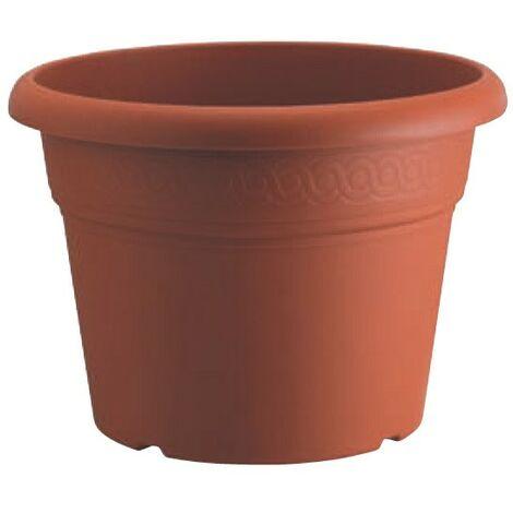 Vaso fioriera mod.olimpo 4pz. cm.25x18h in plastica colore terracotta - Salone