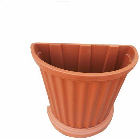 QUADRATO 2 x 4.5 litri LT VASI IN PLASTICA PIANTE QUADRATO-Rotondo Nero Vaso di fiori