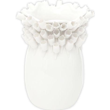 Fiore Vaso Ceramica Porcellana INTERNI ESTERNI GIARDINO Fioriera-Arancione//Blu