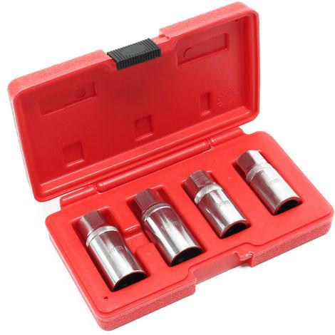 """Vasos extractores espárragos Set 4P 6 8 10 12mm Transmisión 1/2"""" Maletín portátil Extractores Pernos"""