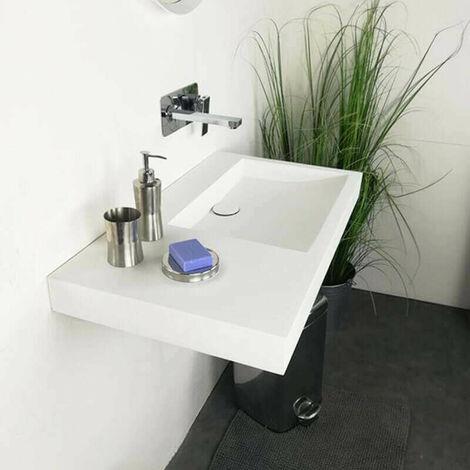 Vasque 80 cm à suspendre ou à poser, en Solid surface - Passoa II D