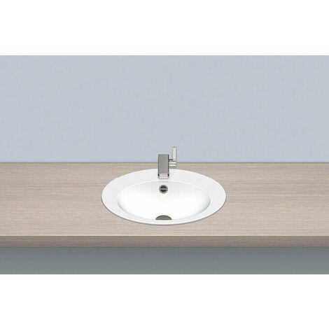 Vasque à encastrer Alape EB.O500H, ovale L : 500mm H : 110,5mm P : 400mm, 2102000000, blanc - 2102000000