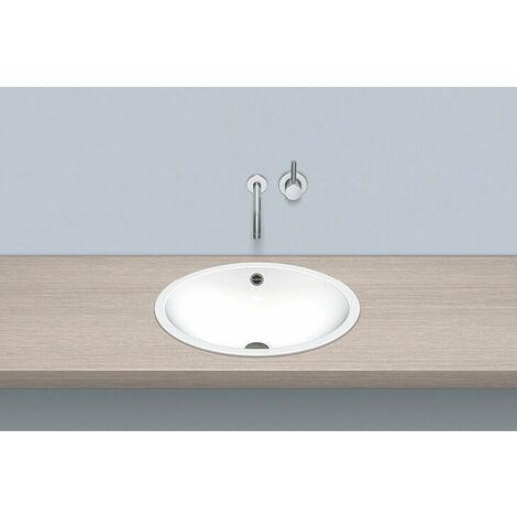 Vasque à encastrer Alape EB.O525, ovale L : 525mm H : 150mm P : 425mm, 21010000, blanc - 2101000000