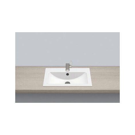 Vasque à encastrer Alape EB.R585H, rectangulaire L : 585mm H : 143mm P : 405mm, 2202000000, blanc - 2202000000