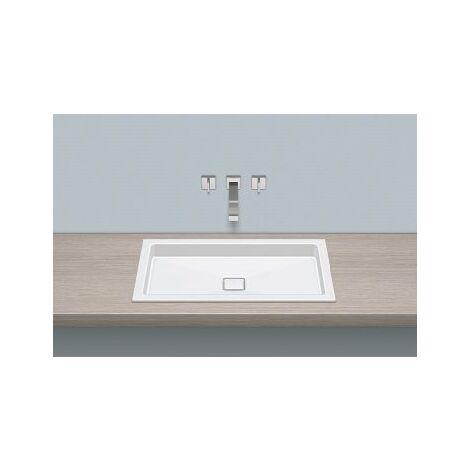 Vasque à encastrer Alape EB.RE700.4, rectangulaire L : 700mm H : 90mm P : 398mm, 2207000000, blanc - 2207000000