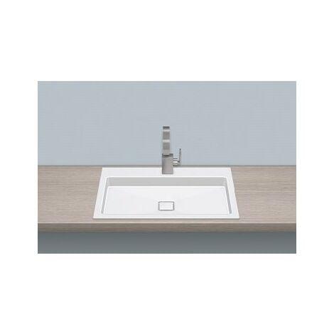 Vasque à encastrer Alape EB.RE700H.2, rectangulaire L : 700mm H : 90mm P : 460mm, 2208000000, blanc - 2208000000