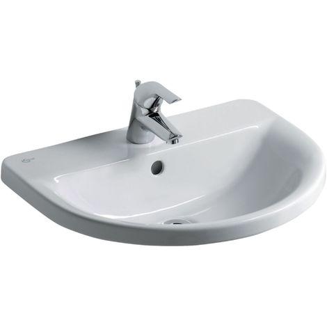 Vasque à encastrer CONNECT ARC 55 x 47,5 x 17,5 cm en grès, blanc Réf. E797801