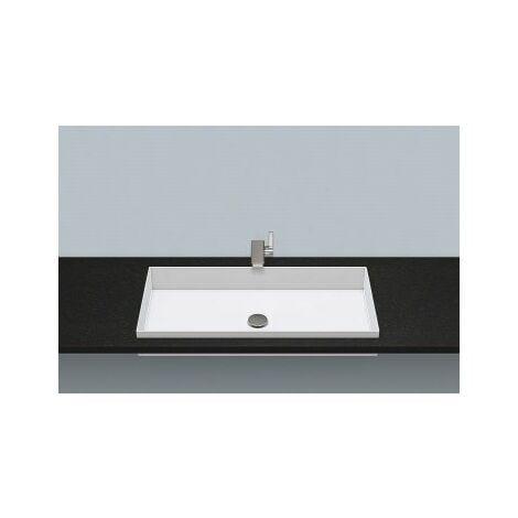 Vasque à encastrer EB.ME750, rectangulaire L : 750mm H : 111mm P : 375mm, 2227503000, blanche - 2227503000