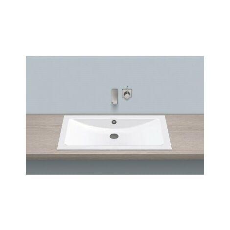 Vasque à encastrer EB.R800, rectangulaire L : 800mm H : 121mm P : 450mm, 2203200000,blanc - 2203200000