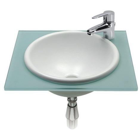 Vasque à encastrer Foro blanc Ø40