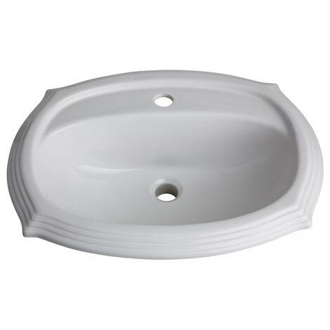 Vasque a encastrer retro blanche