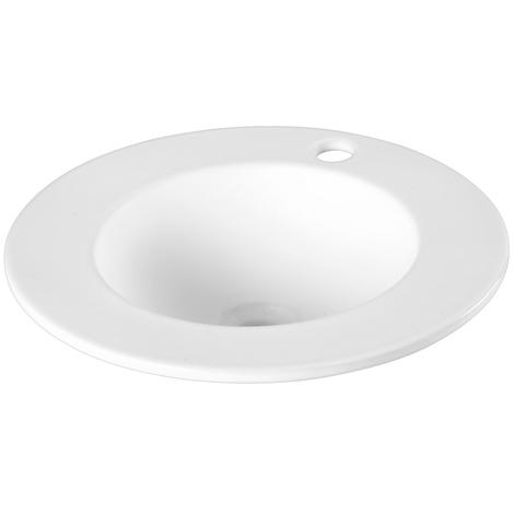 Vasque a encastrer ronde a large bord