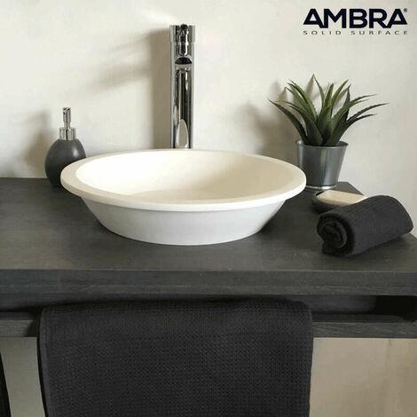 Vasque à poser 41 cm en solid surface - Bloom