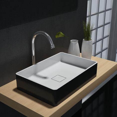 Vasque à poser AQUA en pierre solide (Solid Stone) – PB2011B - 48 x 32 x 10,5 cm - couleur en option
