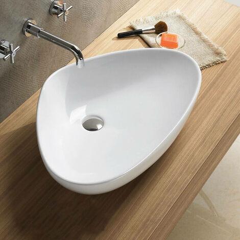 Vasque à Poser Asymétrique - Céramique - 67x43 cm - Young