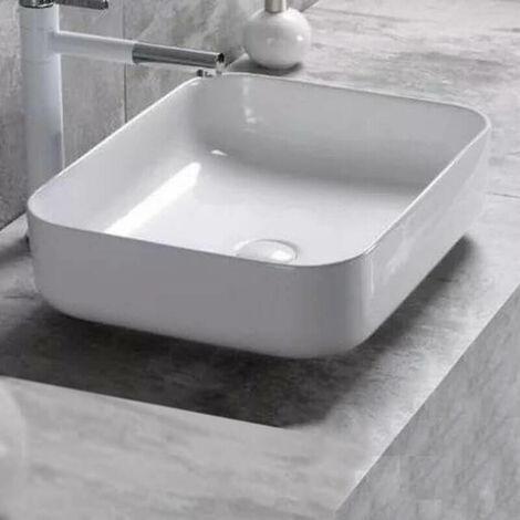 Vasque à Poser Carrée - Céramique - 40x40 cm - Nordik