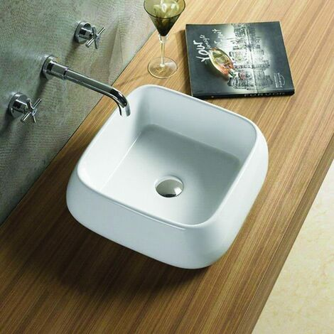 Vasque à Poser Carrée - Céramique - 41x41 cm - Cube