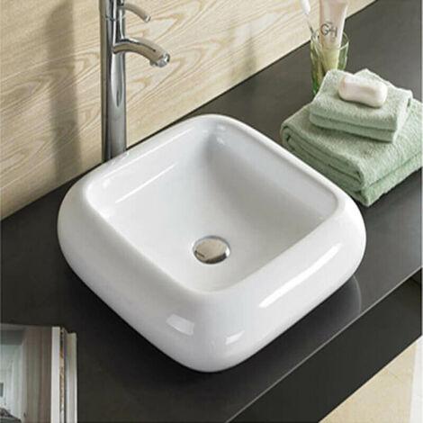 Vasque à Poser Carrée - Céramique - 46x46 cm - Care