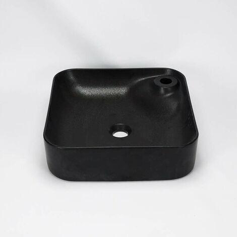 Vasque à Poser Carrée - Céramique Noir Mat - 42x42 cm - Trend