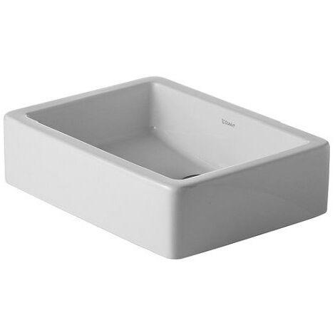 Vasque à poser Duravit Vero 500mm, sans plage de robinetterie, arrière émaillé - fixations incluses - Blanc