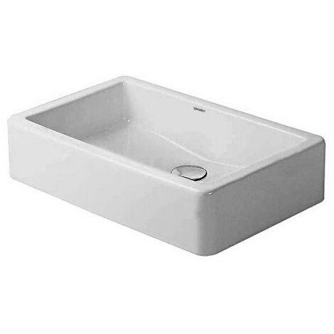 Vasque à poser Duravit Vero 600mm, sans plage de robinetterie - arrière émaillé - fixations incluses - Blanc