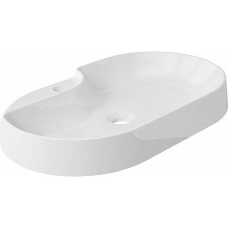 Vasque a poser EDMANA lxhxp: 600x102x380 mm en fonte minérale