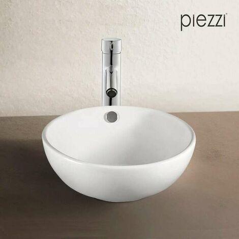 Vasque à poser en céramique blanche, 43 cm - Rondo