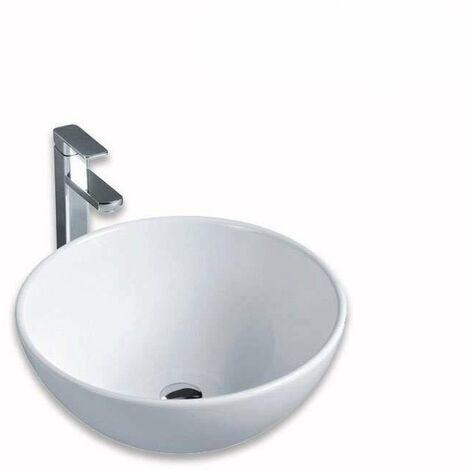 Vasque à poser en céramique blanche, forme bol 32 cm - Rondo