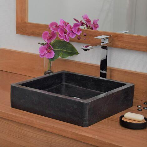 Vasque à poser en marbre noir, Kalio - Noir