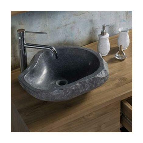 Vasque à poser en pierre brute 46-52 cm