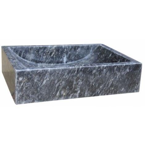 Vasque à poser en pierre rectangulaire noir UC3107