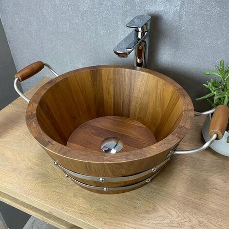 Vasque à poser en teck 40 cm - Lombo