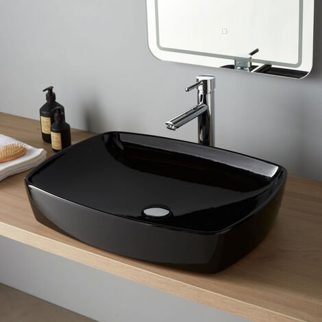 Vasque a poser Milo 60x44 cm noire