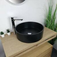 Vasque à poser Noir en Pierre de synthèse 48 cm - Diana