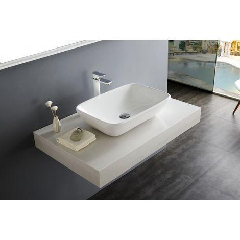 Vasque à poser NT3155 - céramique sanitaire - 58x38,5cm