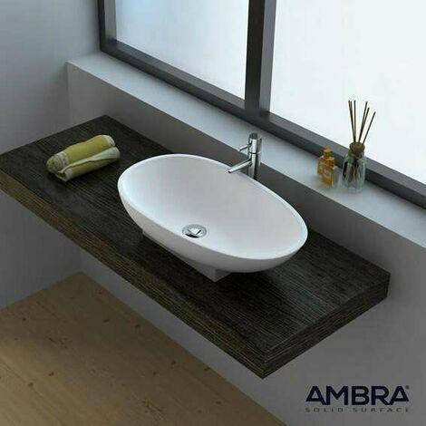 Vasque à poser ovale 60 cm en Solid surface - Calista