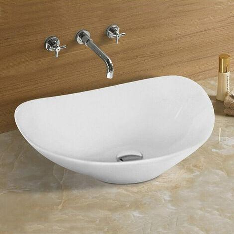 Vasque à Poser Ovale - Céramique - 54x43 cm - Motion