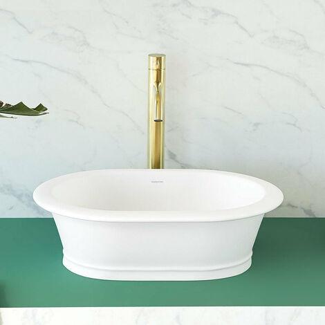 Vasque à poser ovale en solid surface CLASSIC 50 x 36 cm