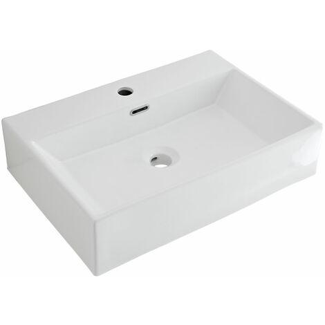 Vasque à poser rectangulaire 60 x 42cm Sandford