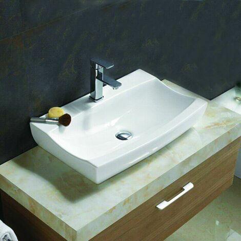 Vasque à Poser Rectangulaire - Céramique - 48x32 cm - Cosmopolitan