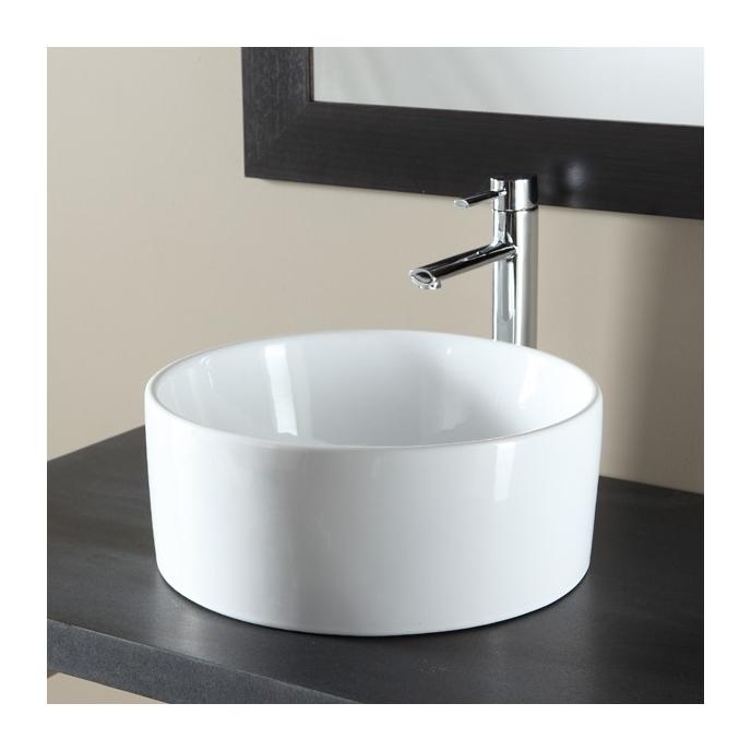 Vasque /à Poser Ovale en c/éramique Blanche