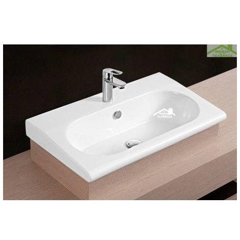 Vasque à poser sur un meuble de bain 72x33x11 cm en porcelaine