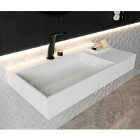 Vasque à suspendre, rectangle, PB2015, en pierre solide (Solid Stone) - 90 x 48 x 13cm
