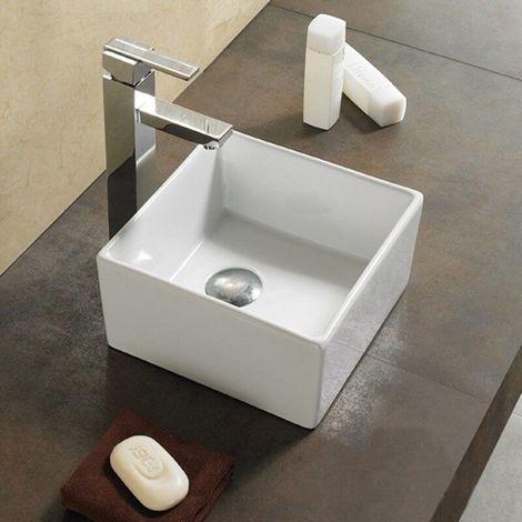 Vasque à Poser Carrée - Céramique - 27x27 cm - Ness