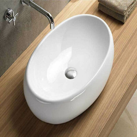 Vasque à Poser Ovale - Céramique - 60x40 cm - Swann