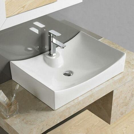 Vasque à Poser Rectangulaire - Céramique - 68x46 cm - Lineare