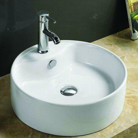 Vasque à Poser Ronde - Céramique - 40 cm - Star